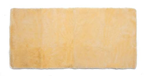 Medizinische Lammfell Betteinlage Bettfell Schaffell Vollfell 70x140cm (Kinderbett)