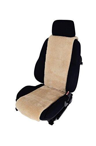 Leibersperger Felle Autositzbezug Sitzauflage aus echtem Lammfell Premium 30 cm Breite x 138 cm Länge (Sekt)