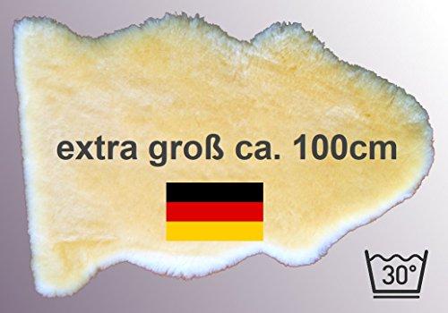 extra großes Lammfell LANABEST XXL. ***** Unser Bestseller: medizinisches Merino Schaffell in Premium-Qualität. In Deutschland hergestellt. Fabrikfrisch, hautfreundlich, 30 Grad waschbar. Größe ca.100 cm