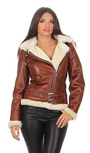 Hollert Damen Lammfelljacke Jessy Felljacke Winterjacke Bikerjacke Lederjacke Kurze Jacke mit Kapuze Merino Lammfell S-2XL