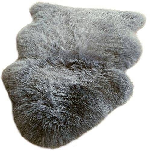 Premium New Zealand Lammfell grau Spitzenqualität waschbar geruchsneutral