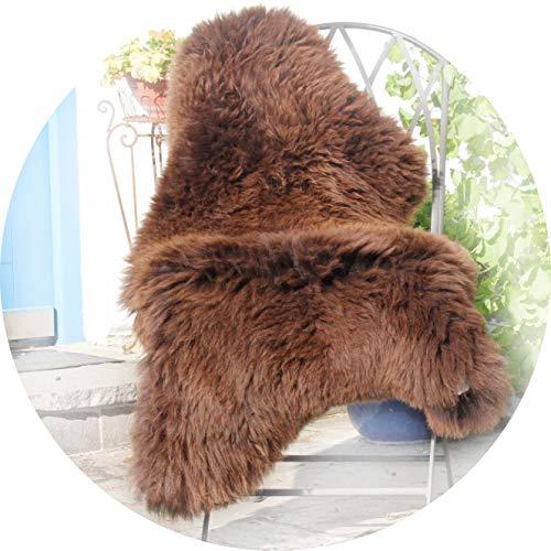 Alpenfell Schaffell Lammfell Braun groß Merinoschaf 120-130cm ökologische Gerbung