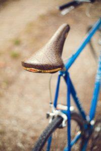 Lammfellsattel für das Fahrrad