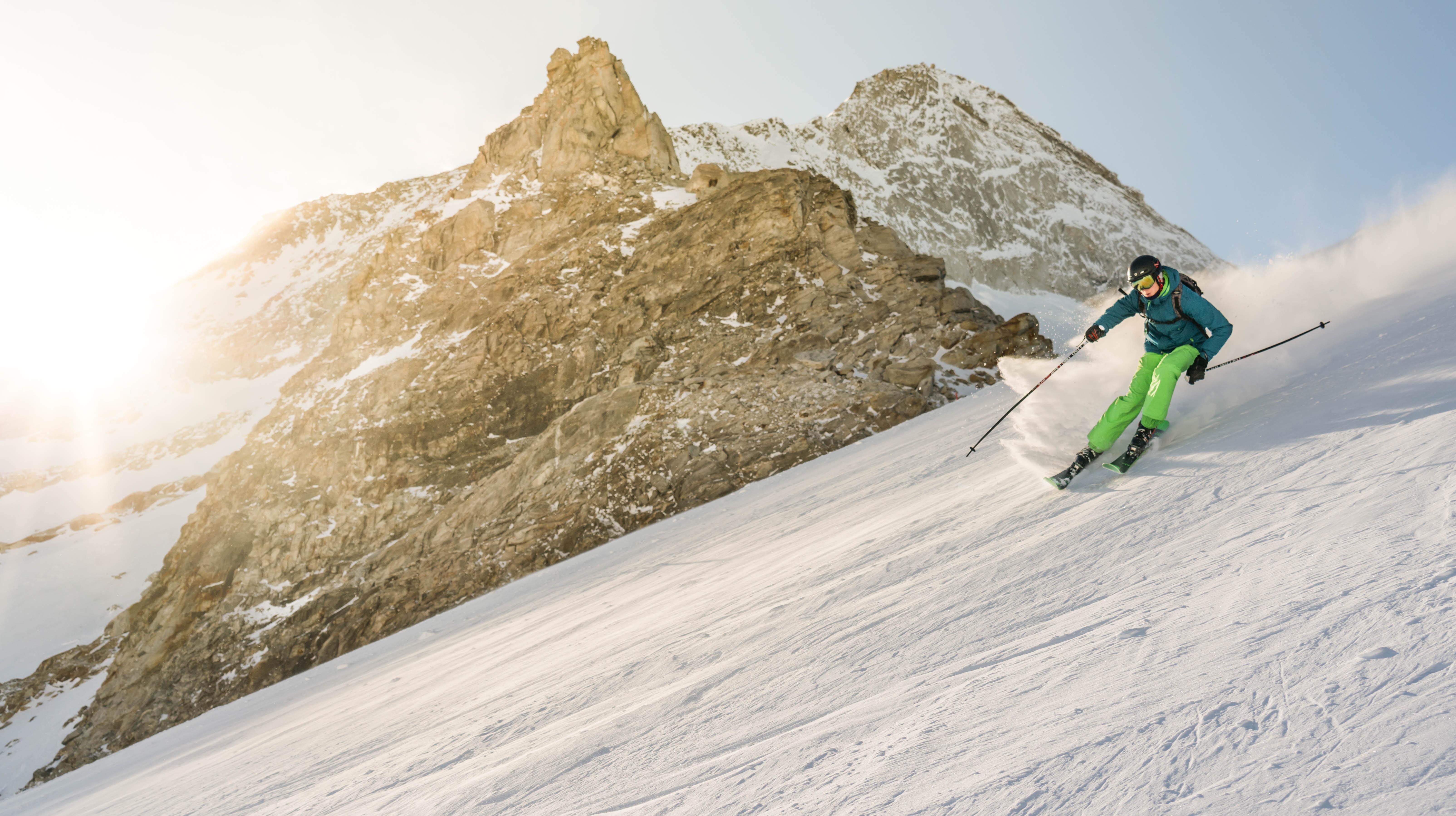 Lammfellhandschuhe beim Skilaufen